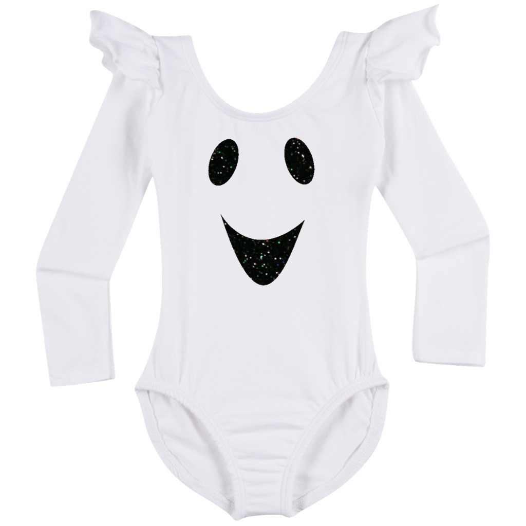 Halloween Ghost Costume Girls Long Sleeve Leotard