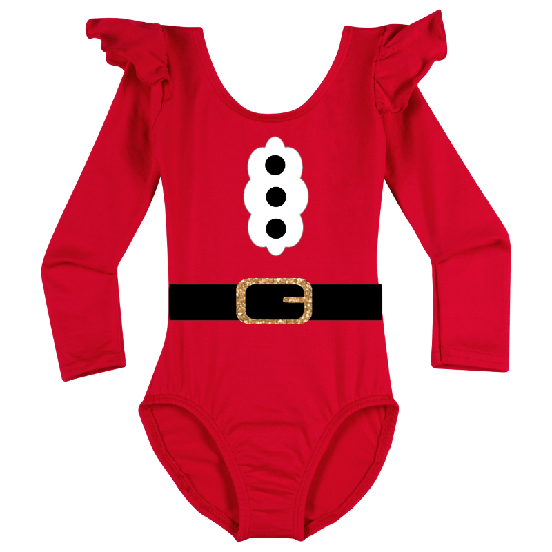 Santa Claus Long Sleeve Baby, Toddler & Girls Bodysuit Top