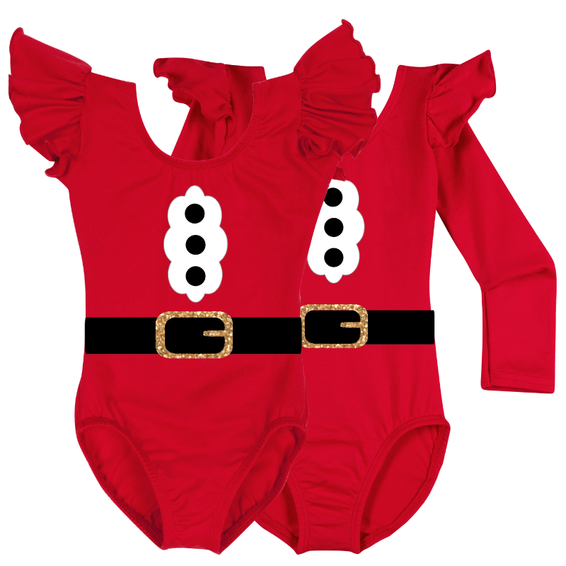 Mrs. Santa Claus Long Sleeve Baby, Toddler & Girls Costume Top