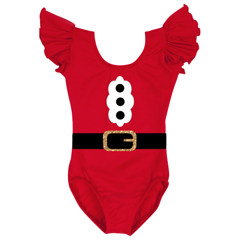 Santa Claus Short Sleeve Baby, Toddler & Girls Costume Top
