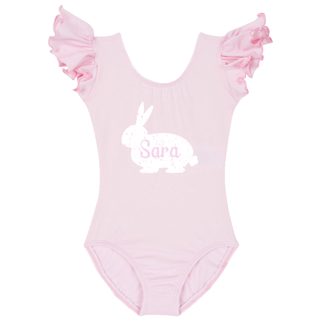 Easter Personalized Baby Bunny Bodysuit - Pink
