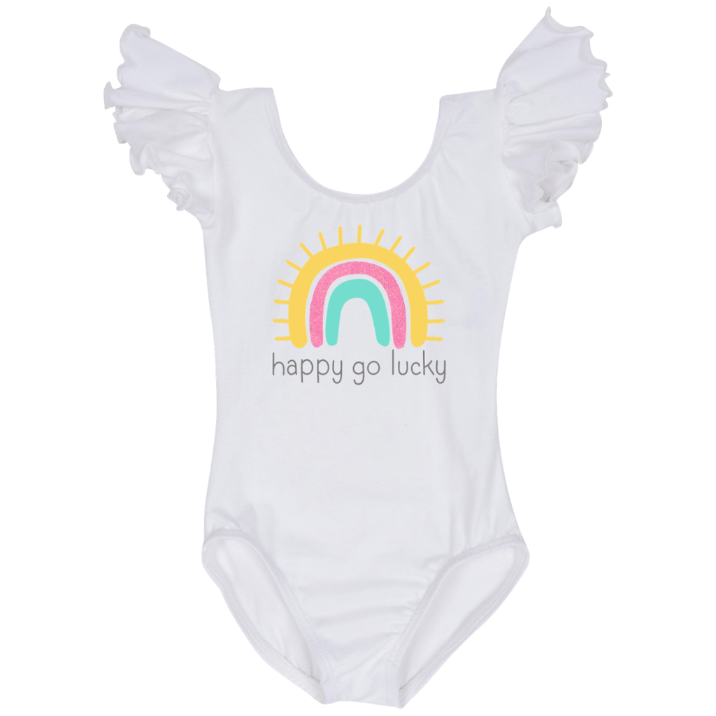 Personalized Rainbow Baby Girls Bodysuit Leotard