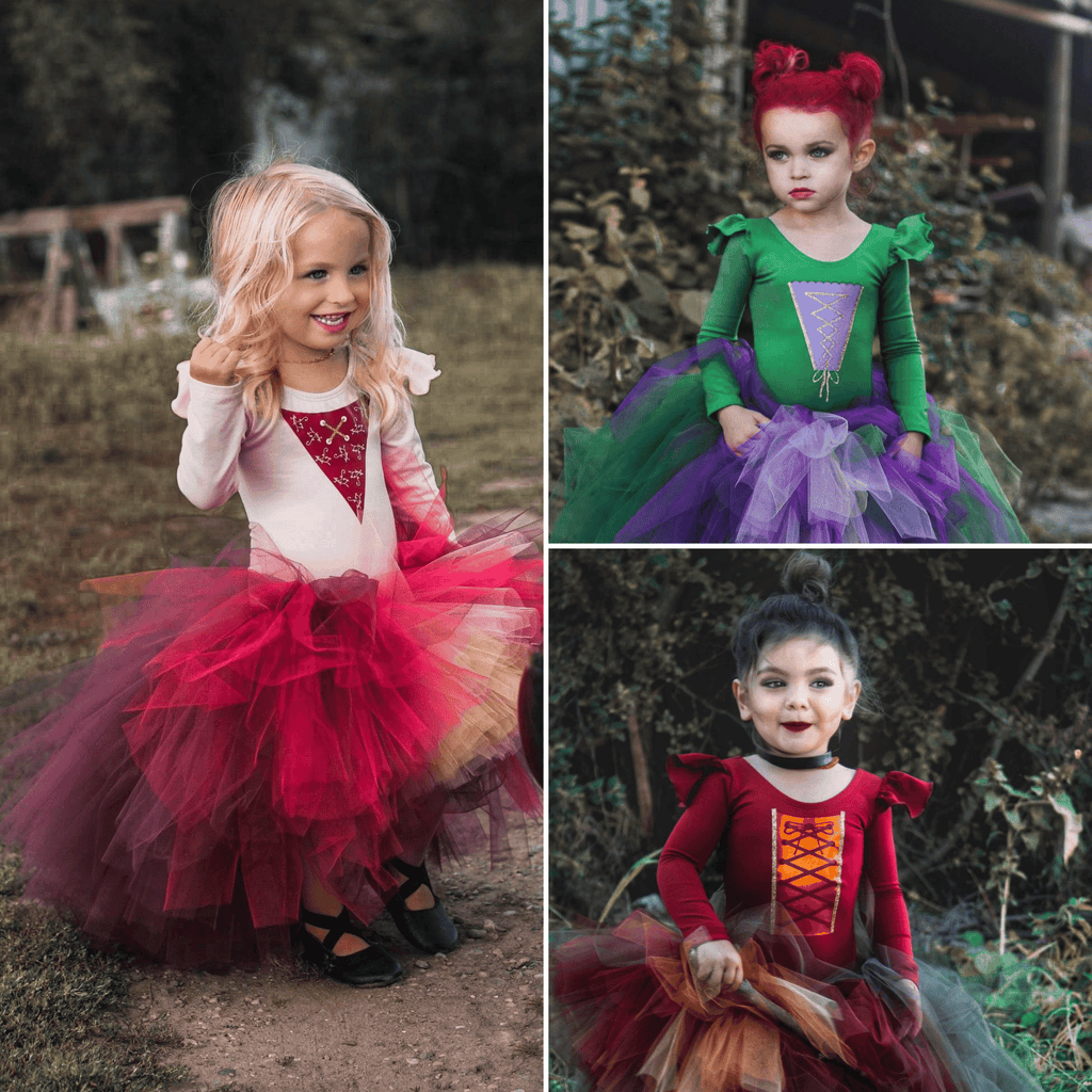 Salem Witch Sisters /  Kids Witch Halloween Costume