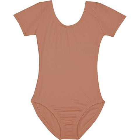 suntan toddler girls short sleeve leotard