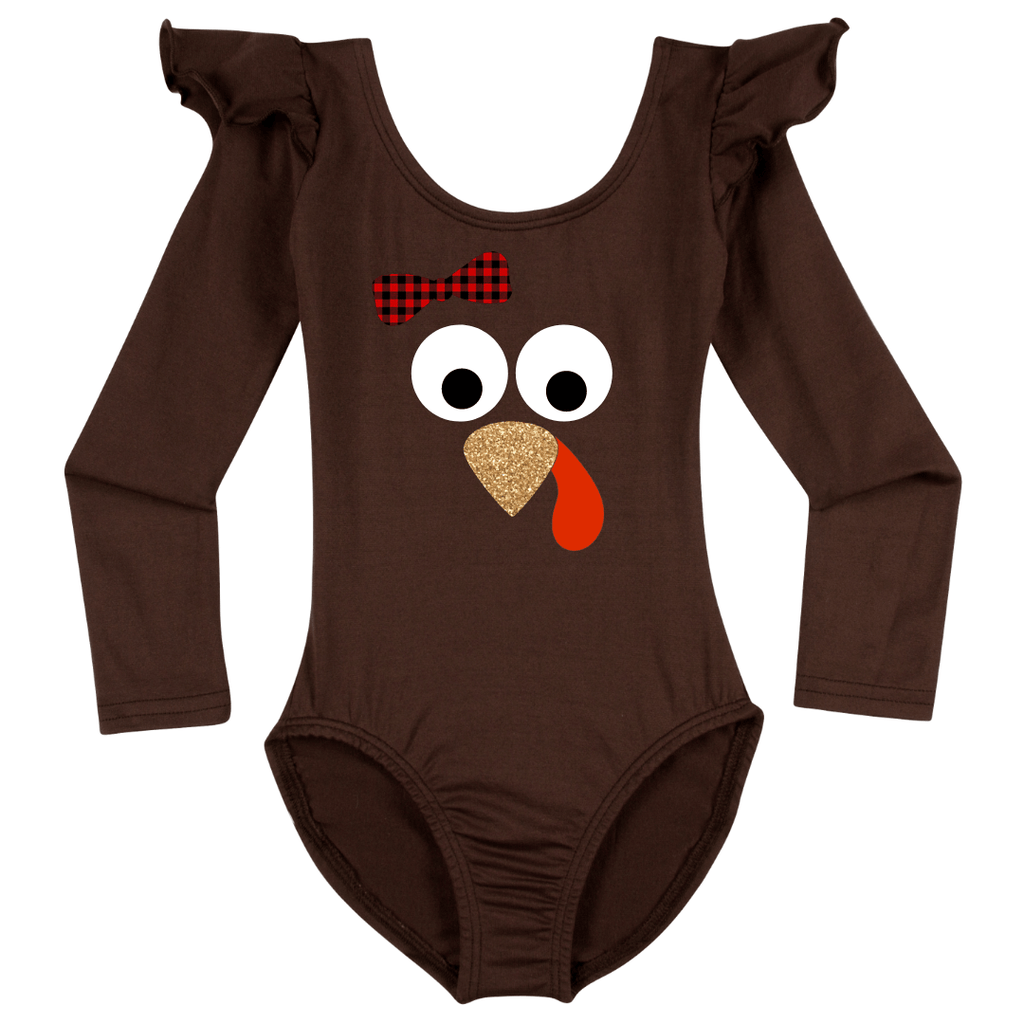 Girls Thanksgiving Turkey Bodysuit Onesie