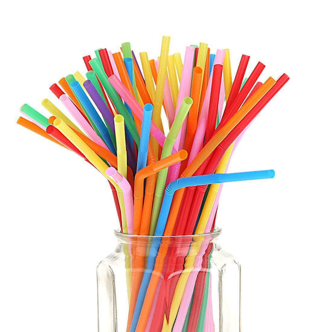 100pcs/Pack Colorful Party Straws
