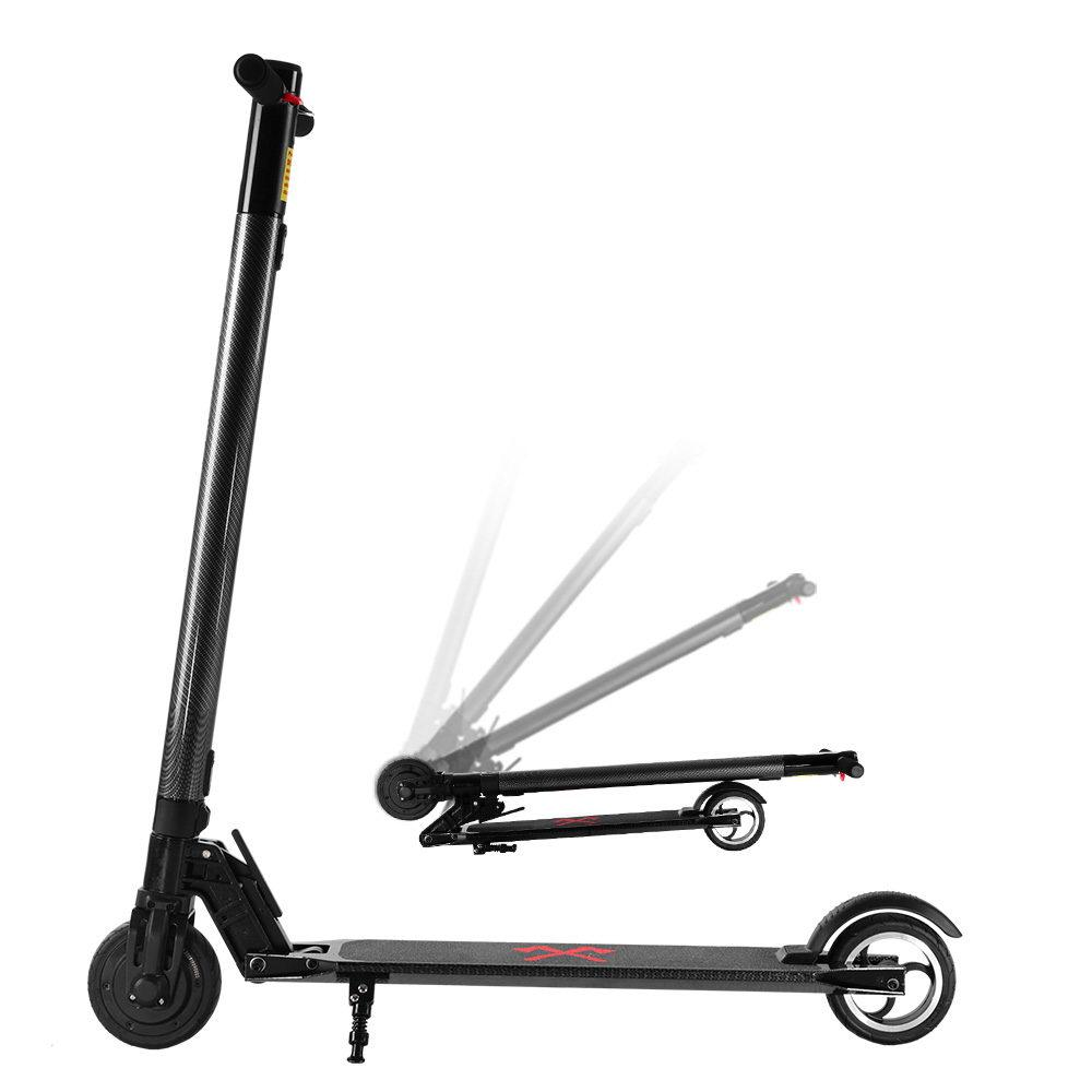 250W Electric Scooter Carbon Fiber Portable Foldable Commuter Bike Kids Adult