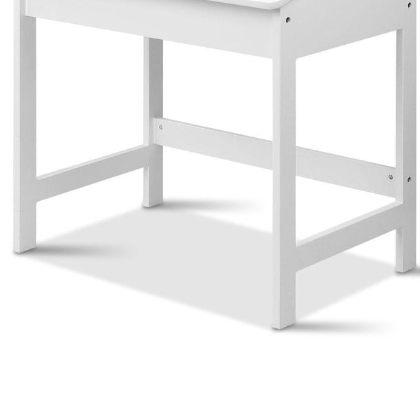 Artiss Kids Lift-Top Desk and Stool - White