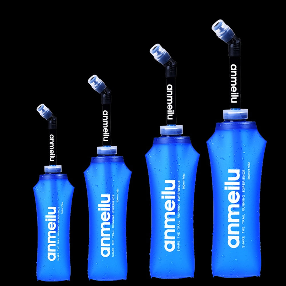 250ml 500ml Soft Flask Water Bottle TPU Free