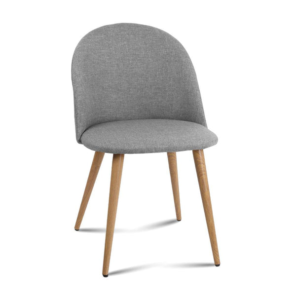 2 X Artiss Dining Chairs Armchair Light Grey