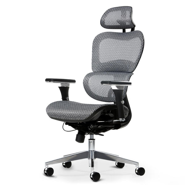 Artiss Office Chair Computer Gaming Chair Mesh Net Seat Grey