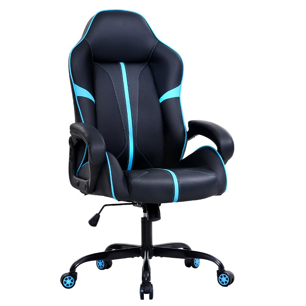 Artiss Gaming Office Chair Computer Chairs Leather Seat Racer Racing Meeting Chair Balck Blue