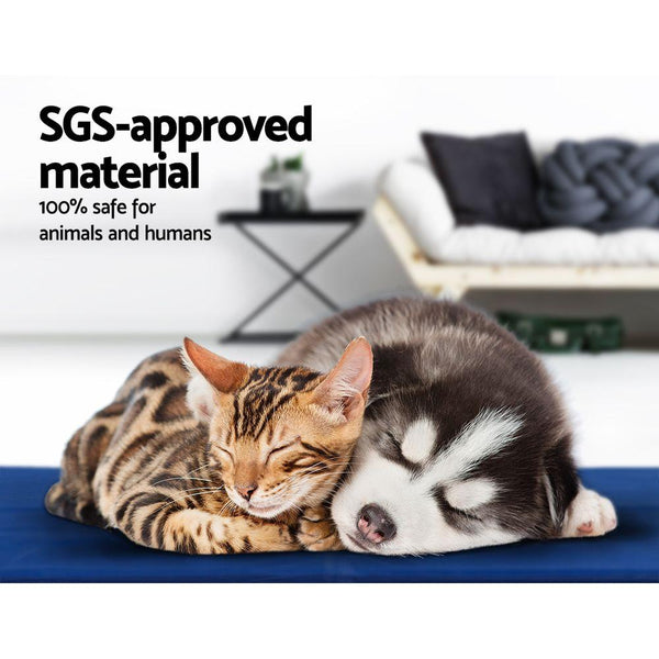 2X Pet Cooling Gel Mat Dog Bed Cat Beds Non-Toxic Cool Pad Puppy Summer 65x50