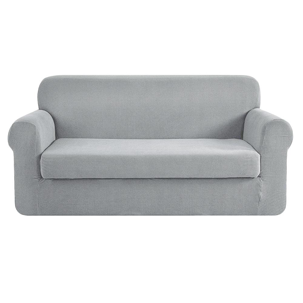 Artiss 2-piece Sofa Cover Elastic Stretch Couch Covers Protector 3 Steater Grey