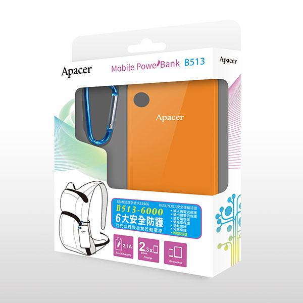 APACER Mobile Power Bank B513 6000mAh Orange RP