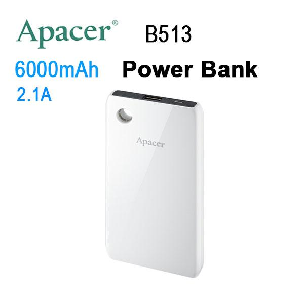 APACER B513 6000mAh Power Bank White