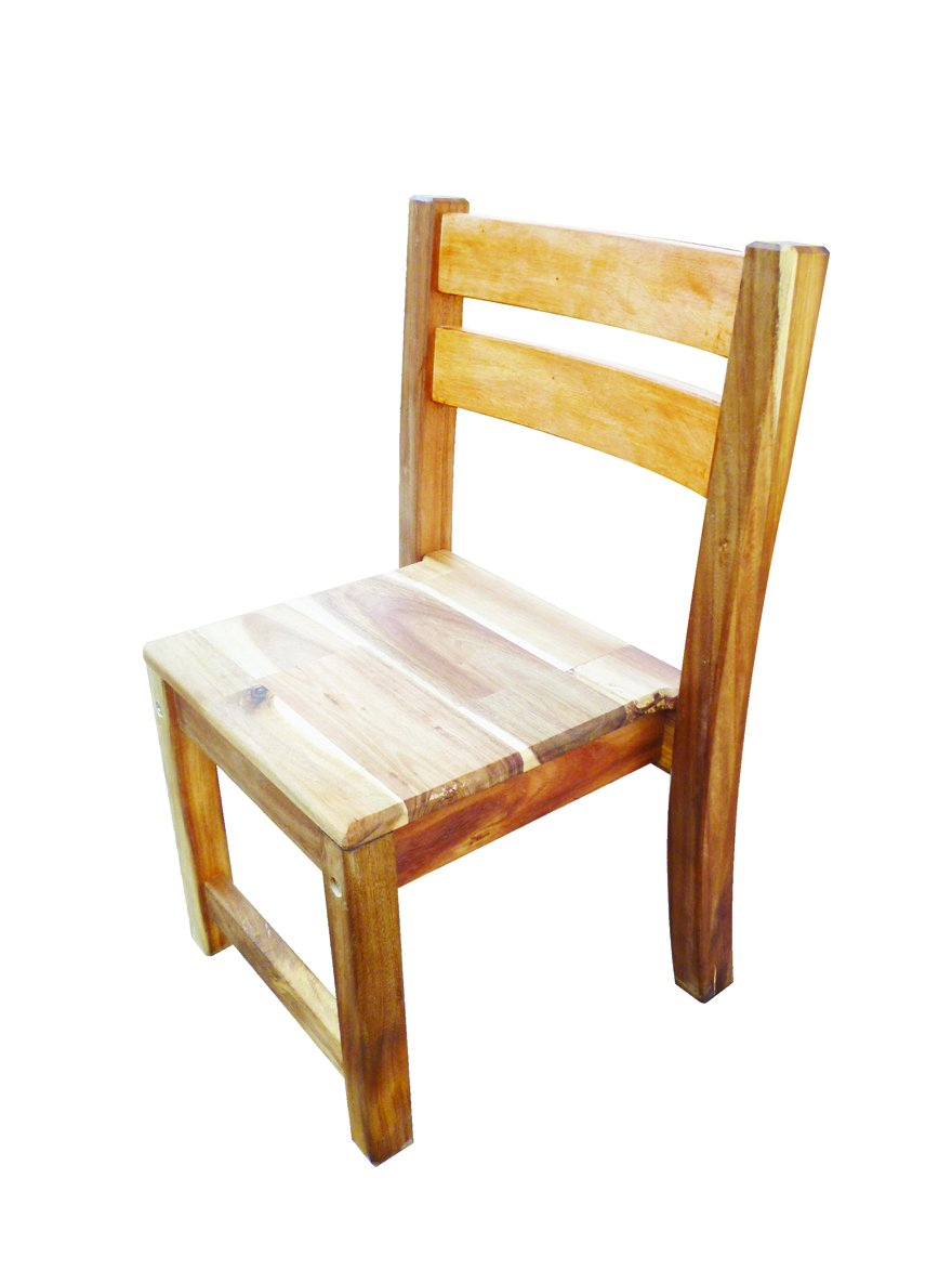 2 x Acacia Stacking Chair