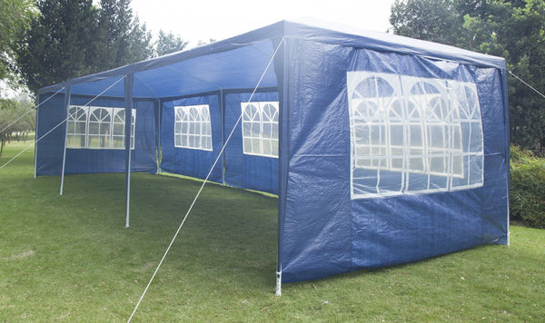 3x9m Wedding Outdoor Gazebo Marquee Tent Canopy Blue