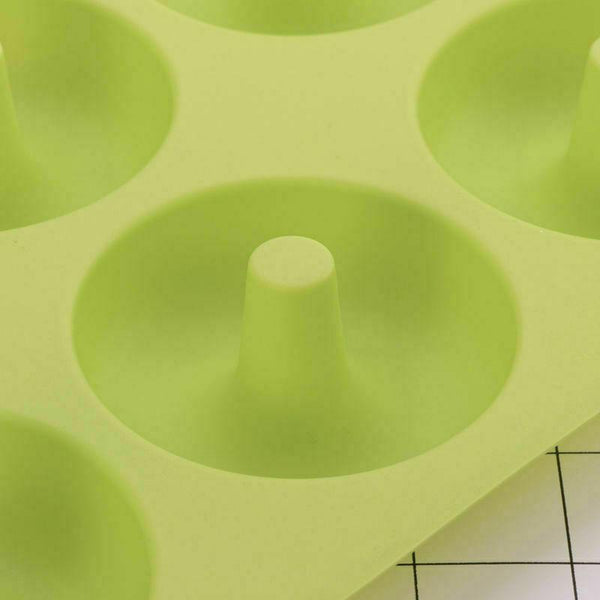 2x 6 Cups Non-Stick Silicone Donut Baking Pan Mold