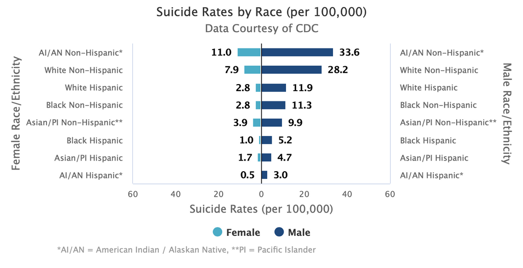 Suicide Rates By Gender
