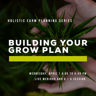 Building Your Grow Plan Webinar: Wednesday, April 1st
