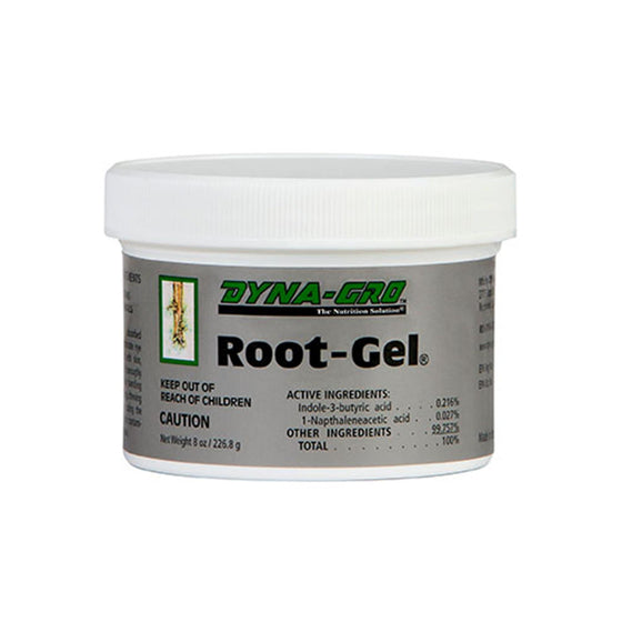 Root-Gel®  is a unique gel used to promote root formation in the propagation of cuttings.  Contains both IBA and NAA hormones plus the right amount of essential minerals in a water soluble gel to get cuttings off to a great start.