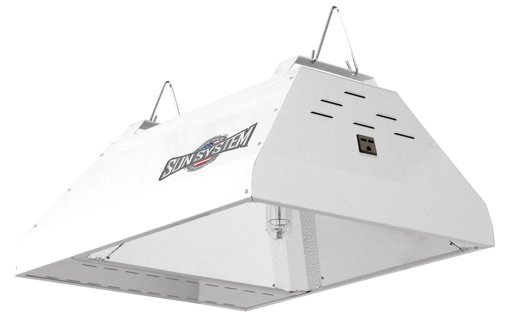 Sun System® LEC® Brand 315 Watt Light Fixtures utilize cutting edge Light Emitting Ceramic® brand technology. Fixture has 98% reflective German aluminum insert and 95% reflective textured corners for excellent output, uniformity and diffusion. Highly efficient agriculturally engineered CDM-T 315 Watt LEC® brand lamp (lamp included).