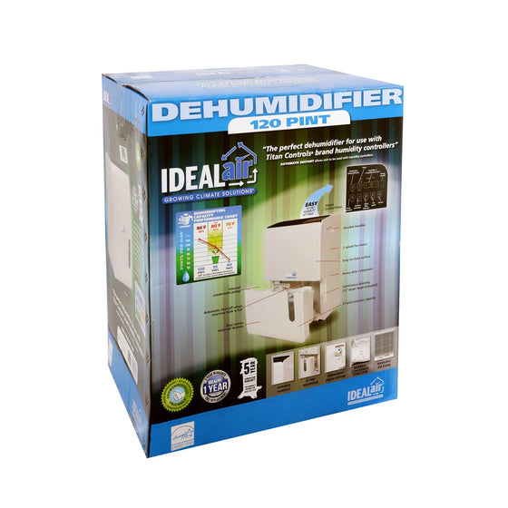 The Ideal-Air Dehumidifiers are now rated at AHAM standards (80°F, 60% Relative Humidity). There is no change to the unit itself, only to the temperature and humidity at which the reading is being taken from. Previously they were rated at a higher temperature and humidity level based on hydroponic industry standard usage (86°F, 80% Relative Humidity).