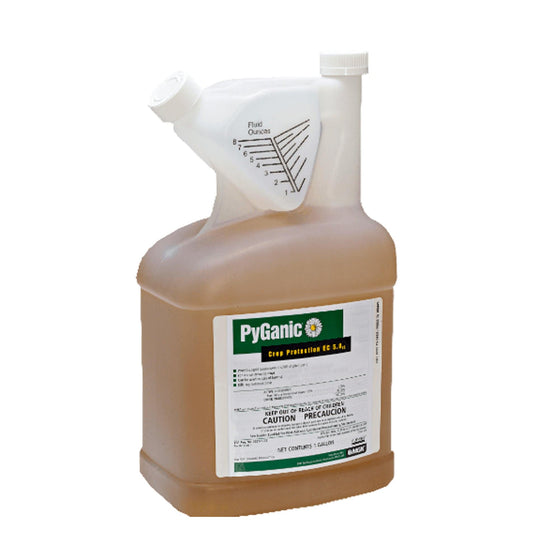 PyGanic® Crop Protection EC 5.0 delivers consistent, reliable knockdown and controls some of the most-damaging and pervasive insects on your crops. Organically-compliant, PyGanic controls a broad-spectrum of insects on virtually every type of crop and requires no pre-harvest interval or restrictions on the number of applications that can be made per year.