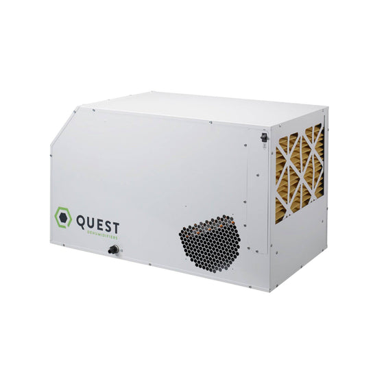The Quest Dual 205 was designed to be placed overhead and out of the way, but can also be placed at ground level for plug and play operation.