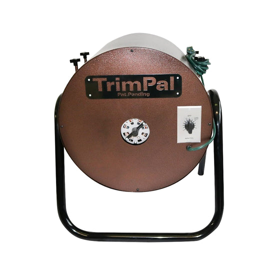 The TrimPal 2 Unit Dry Trimmer is capable of processing 3–4 lbs per hour. Featuring a Dayton motor that is turning a slow 17 revolutions per min, making sure each cut is close and precise. Large capacity 11 in basket holds 2–2.5 units of full untrimmed flower. With a 15 min interval timer that is used to set your desired trimming. Easy cleaning, just remove of one bolt and with 10 min of cleaning you're back in business.