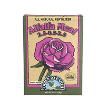 An excellent soil conditioner, alfalfa meal is a rich source of trace elements and natural growth stimulants. Recommended for all flowering shrubs and especially roses, alfalfa meal accelerates growth and promotes larger, more plentiful blooms. It is also useful as a compost bio-activator due to its high organic matter content and ideal carbon-to-nitrogen ratio.