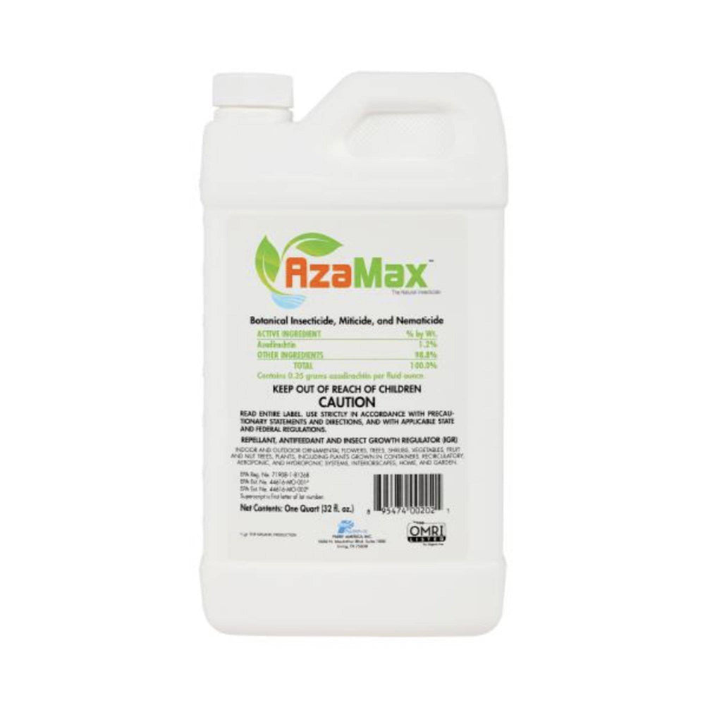 AzaMax is a natural insecticide, miticide, and nematicide made from Neemazal® Technical (Purest Azadirachtin technical of highest concentration in the world). This is extracted from the neem seed kernel, through patented extraction technology.