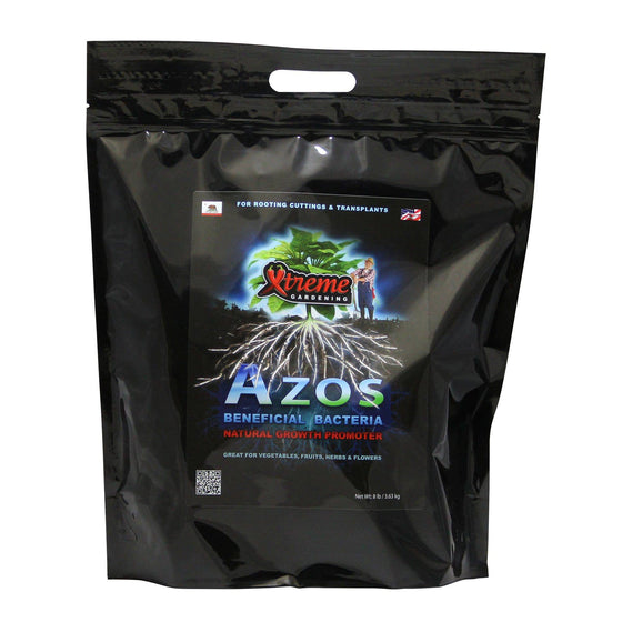 Azos is a beneficial microbe that sparks new root development and boosts growth. Azos works by rapidly increasing plant production of IAA (indole-3 acetic acid)–a natural plant hormone, affecting cell division, growth rates and plant and root development.