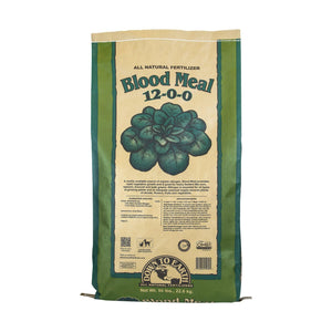 A high nitrogen source, our Blood Meal is guaranteed to promote rapid, green growth. A wonderful fertilizer for heavy feeders like corn, spinach, salad greens and garlic in the early spring, it also helps compost piles heat up and break down fast.