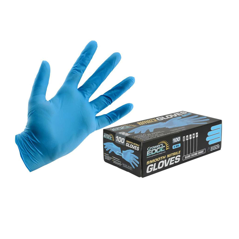 Grower's Edge® Powder Free Light Blue Nitrile Gloves are latex and powder free. Tough 4 mil thickness for strength and durability while still maintaining elasticity. Grower's Edge® Disposable Nitrile Gloves are ambidextrous and highly resistant to puncture, solvents and grease. These gloves feature an excellent grip and dexterity. Suitable for a variety of applications.
