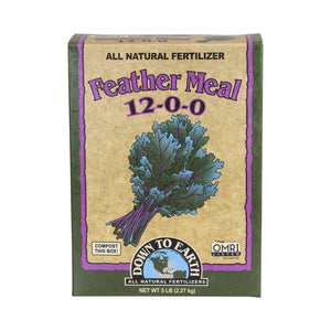 Feather Meal is a great source of slow-release nitrogen that is perfect for heavy feeders like corn, cole crops and leafy green vegetables. Incorporate into your soil before spring plantings for best results.