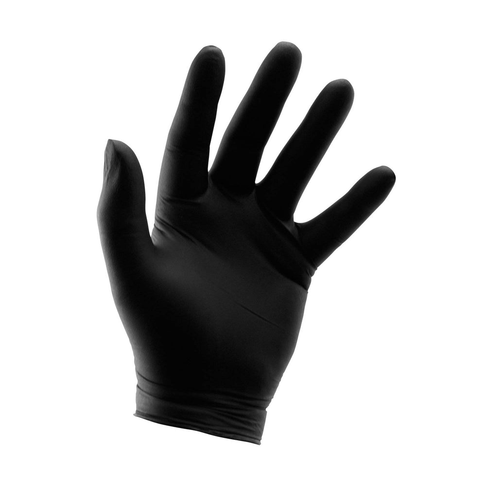 Grower's Edge® Disposable Black Nitrile Gloves are latex and powder free. Heavy-duty 6 mil thickness for strength and durability while still maintaining its elasticity.