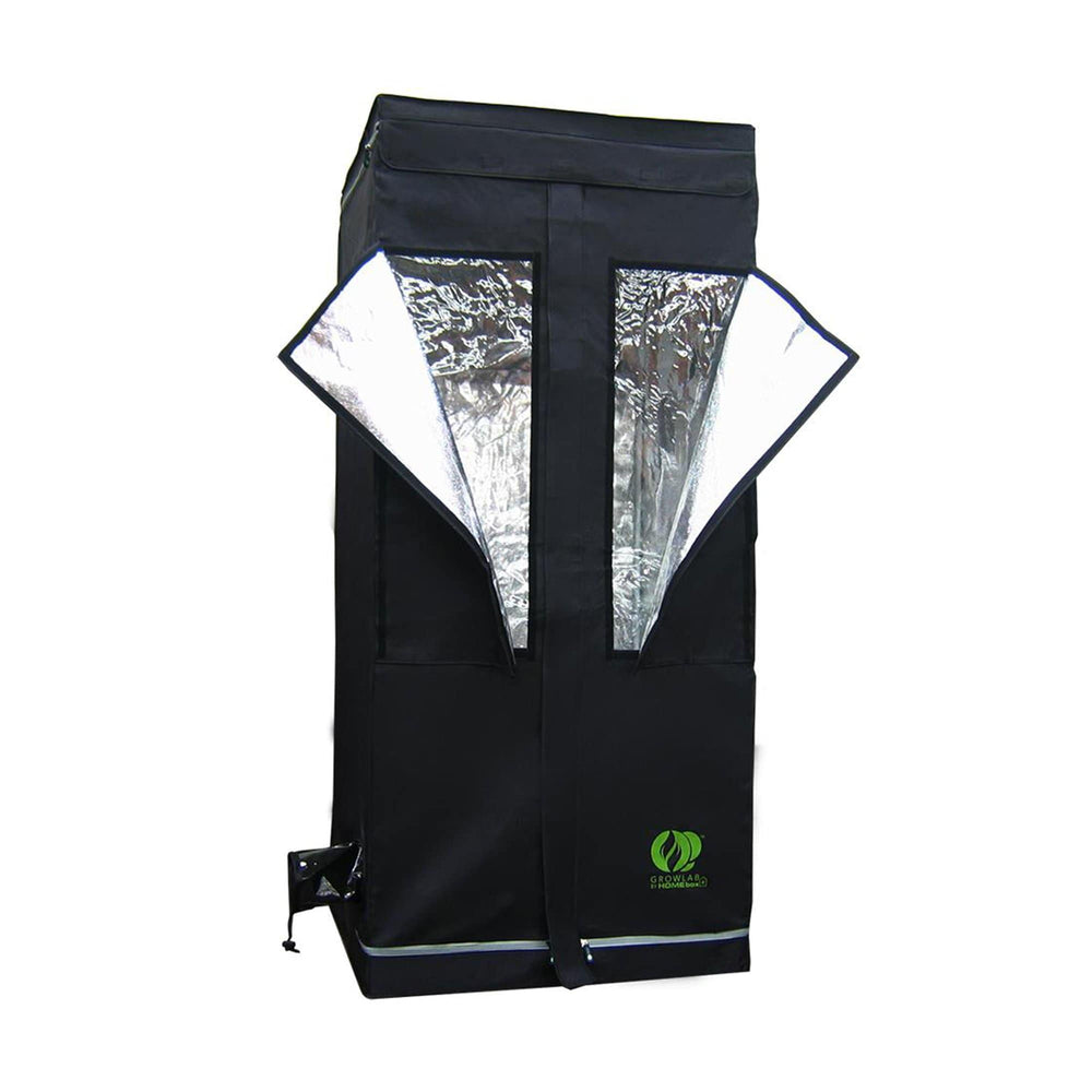 The GrowLab® Horticultural Grow Room has all the features you could ask for - and more! Outfit the GrowLab® with the ventilation fan, lighting system, and growing system of your choice and you will have the brightest, slickest, most affordable grow room available