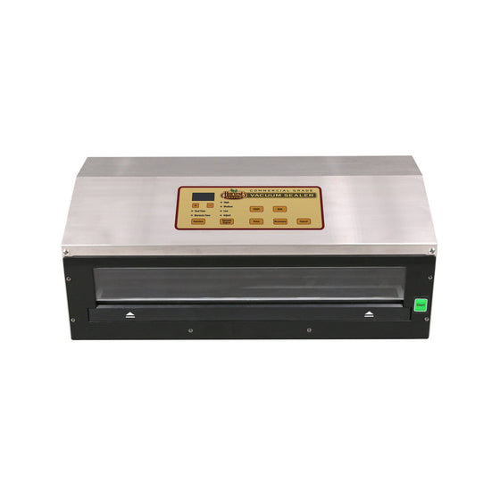 Harvest Keeper® Vacuum Sealer Commercial Grade is a premium heavy-duty vacuum sealer. The Harvest Keeper® Vacuum Sealer is constructed from durable stainless steel material and features a digital display board for adjusting settings. Incorporated in the design is preset function control options, which allow you to choose seal time, vacuum level and marinade mode, making this unit the most versatile sealer in its class. This unit is fully automatic.