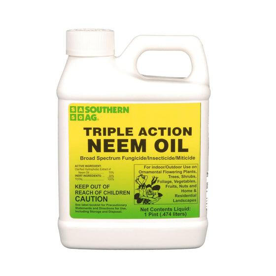 Southern Ag Triple Action Neem Oil Broad Spectrum Fungicide Insecticide Integrative Pest Management for Industrial Hemp