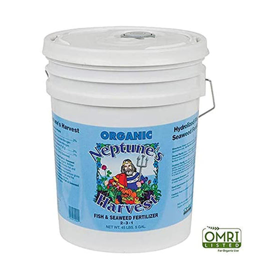 The perfect blend of hydrolyzed fish and seaweed, ensuring a complete fertilization program.  Grow a beautiful vegetable garden Flowers and foliage will be stronger and more colorful Blooms will be more plentiful, fragrant and longer lasting Easy to mix and apply by hand, sprayer, or drip line