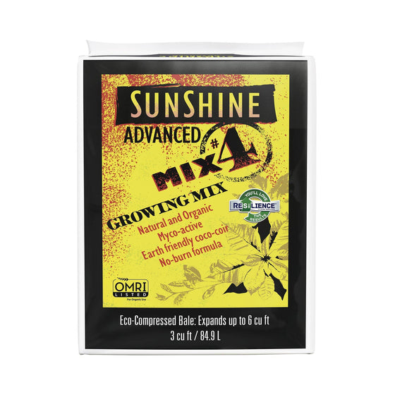 Sunshine Advanced Mix #4 is meticulously formulated to meet the needs of professional growers natural and organic.