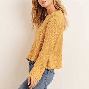 Mustard Knitted Cropped Sweater