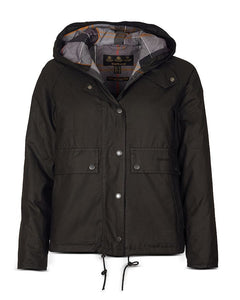 Barbour Naver Waxed Hooded Coat