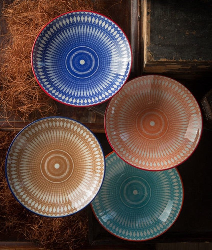 Geometric Ceramic Bowls