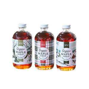 Finding Home Farms Organic Maple Syrup Limited Edition Holiday Bottles 8 oz.