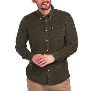 Barbour Cord Tailored Shirt - Forest