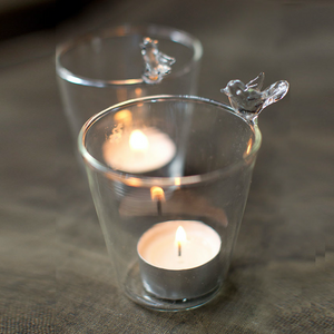 Hand-Blown Glass Bird Votive