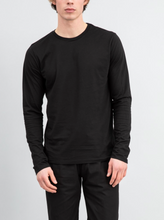 Load image into Gallery viewer, Save Khaki Supima Crew Tee - Black
